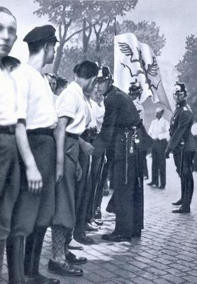 SA members are searched by Prussian Police in Berlin, from 'Deutsche Gedenkhalle: Das Neue Deutschla 18th