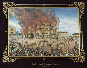 Fire at the Royal Theatre in Dresden on 21st September 1869