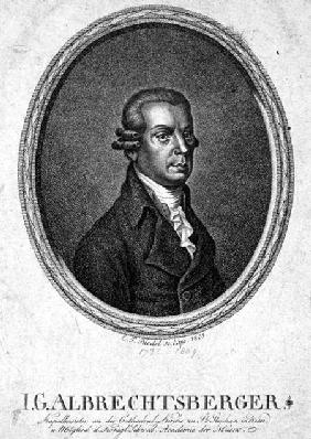 Johann Georg Albrechtsberger (1736-1809) engraved by C.F. Riedel 1803