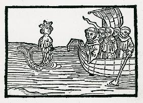 St. Brendan and the Siren, illustration from ''The Voyage of St. Brendan''