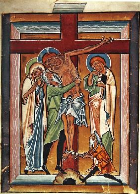 The Descent from the Cross, c.1230 (tempera & gold leaf on vellum)