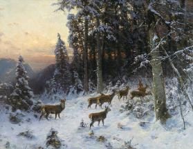 A winter evening in the Black Forest c.1880