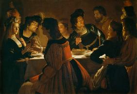 Feast Scene with a Young Married Couple