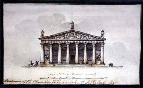 Elevation of the Riding Stables at Tsarskoye Selo 1792