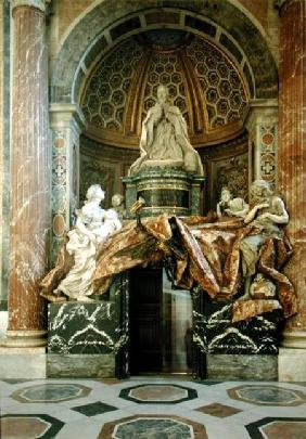 Monument to Alexander VII (1599-1677)in the north transept 1672-78