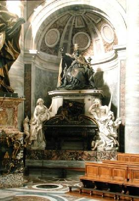 Monument to Urban VIII (1623-44) with the figures of Charity and Justice