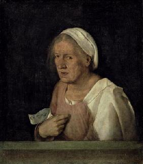 La Vecchia (The Old Woman) after 1505 (oil on canvas) 1645