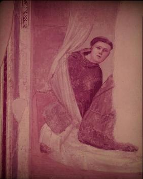 Monk, detail from the Life of St. Francis cycle, Bardi Chapel c.1340