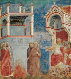 The Trial by Fire, St. Francis offers to walk through fire, to convert the Sultan of Egypt in 1219 1296-97