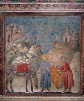St. Francis Gives his Coat to a Stranger 1296-97