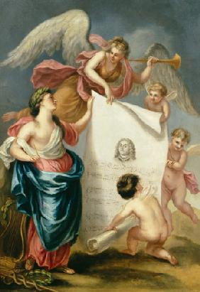 Allegorical study for a memorial print of Handel