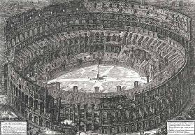 Aerial view of the Colosseum in Rome from 'Views of Rome', first published in 1756, printed Paris 18 1860