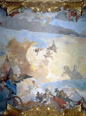 Detail from the Course of the Sun, 1740 (fresco) 1740