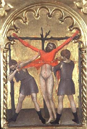 Christ on the Cross, detail from the polytych of the Spedale della Misericordia 1353-63