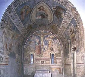Chapel of SS. Ambrogio and Caterina from Moccirolo showing the barrel vault with Christ in Glory and