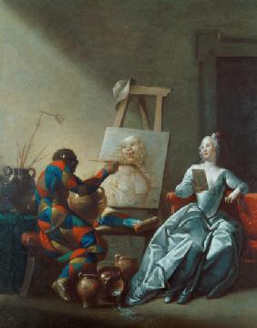 The Harlequin Painter c.1742