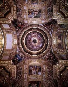 The Vision of Paradise, frescoes on the ceiling and cupola of Sant'Andrea della Valle, Rome 1621