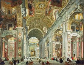 Interior of St. Peter's, Rome c.1754