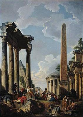 Architectural Capriccio with a Preacher in the Ruins c.1745