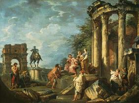 Peasants Amongst Roman Ruins 1743