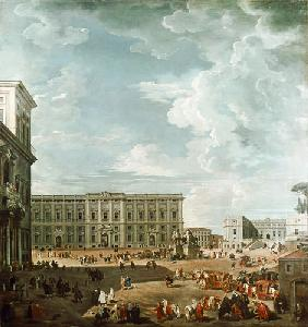 View of the Piazza del Quirinale, Rome 18th c.