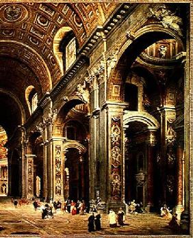 Cardinal Melchior de Polignac (1661-1742) Visiting St. Peter's in Rome  (detail)
