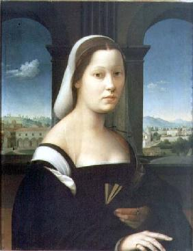 Kunstdruck von Giuliano Bugiardini - Portrait of a Woman (panel)