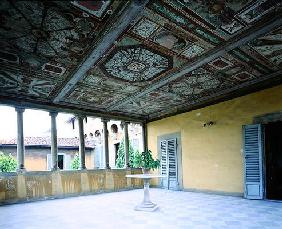 Interior view of the loggia, Villa Medicea di Careggi (photo)