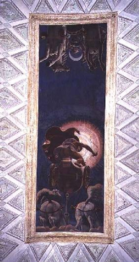 Apollo driving the Chariot of the Sun, ceiling decoration in the Camera del Sole 1527