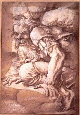 Giant, sketch for the fresco of the Fall of the Giants, Palazzo del Te, Mantua 1531/32
