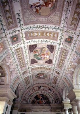 The Loggia di Davide (or D'Onore), ceiling depicting biblical subjects including a lunette of David