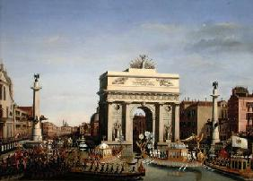 Entry of Napoleon I (1769-1821) into Venice 1807