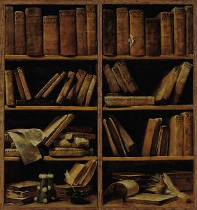 Trompe l'Oeil of a Bookcase 1710-20