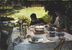 Breakfast in the Garden 1883