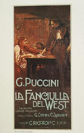 The Girl of the Golden West by Giacomo Puccini (1858-1924) 1910