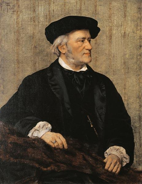 Portrait of Richard Wagner (1813-83) 1883