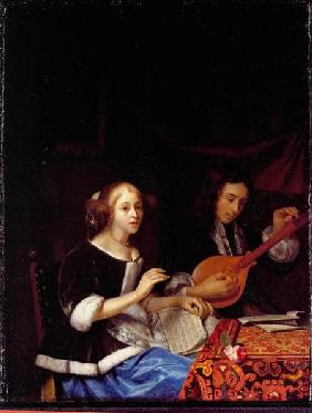 A Young Couple Making Music c.1665-70