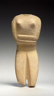 Cycladic figure, Spedos, c.2700-2500 BC (marble) 17th