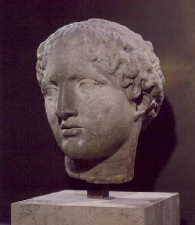 Head of a goddess, the 'Tete Laborde', from the Parthenon, Athens c.447-432