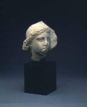 Head of a woman from a funerary reliefClassical Period early 4th