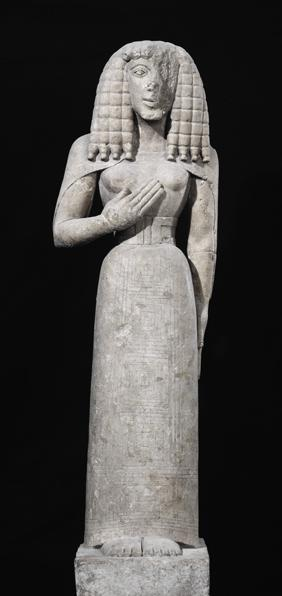 Female statue, known as the Auxerre Goddess c.640-630