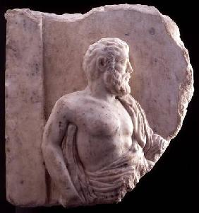 Bas-relief of a philosopher, Greek 4th-3rd ce