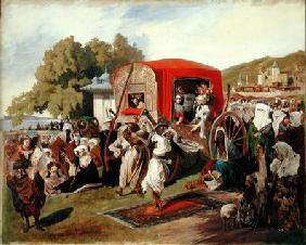 Outdoor Fete in Turkey c.1830-60