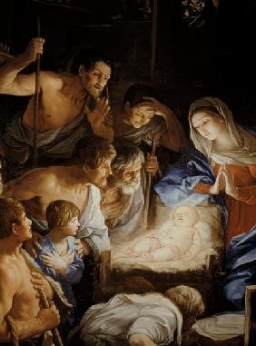 The Adoration of the Shepherds, detail of the group surrounding Jesus 17.jhd