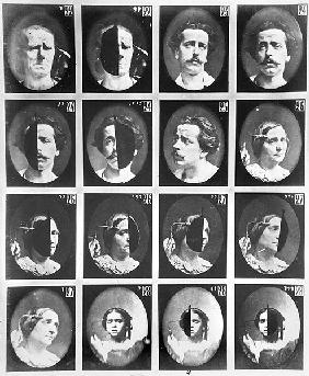 Physiognomical studies, from 22 to 28, from ''Mecanisme de la Physionomie humaine ou analyse electro