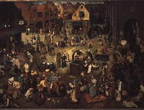 Fight between Carnival and Lent 1559
