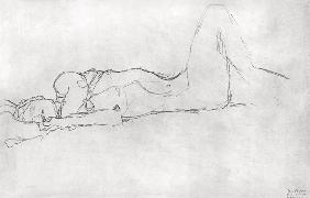 Reclining Female Nude c.1914 cil