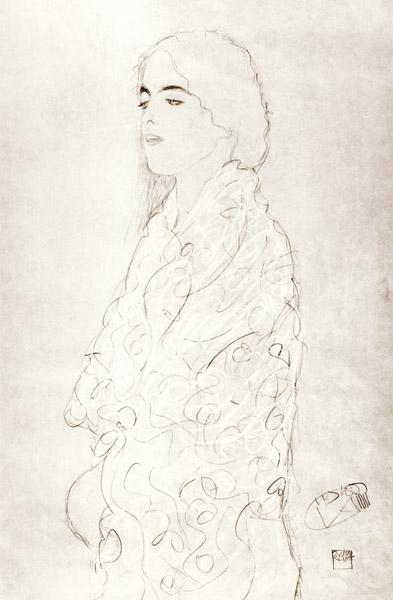 Standing Robed Lady c.1916 cil