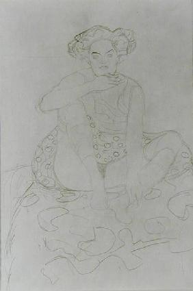 Seated Woman 1916 cil o