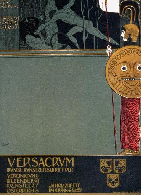 Cover of 'Ver Sacrum', the journal of the Viennese Secession, depicting Theseus and the Minotaur 1898
